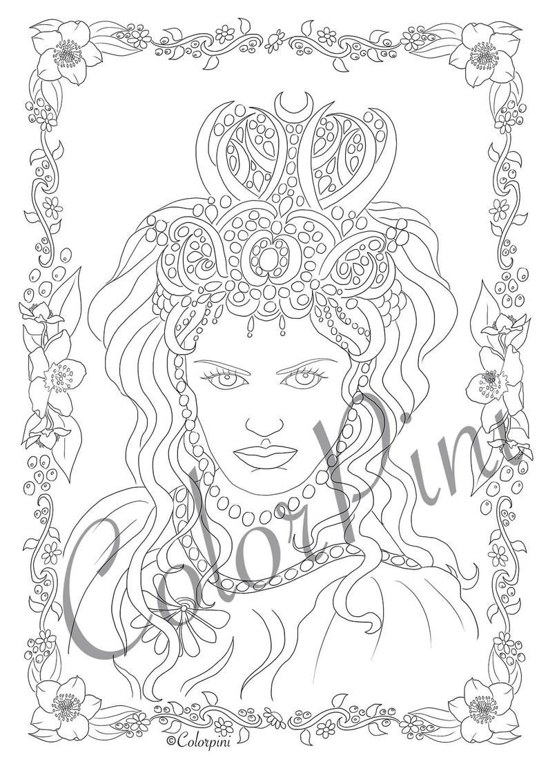 Snow Queen Coloring Pages Download Printable File Pdf In 2020 Coloring Pages Printable Coloring Pages Letter Paper