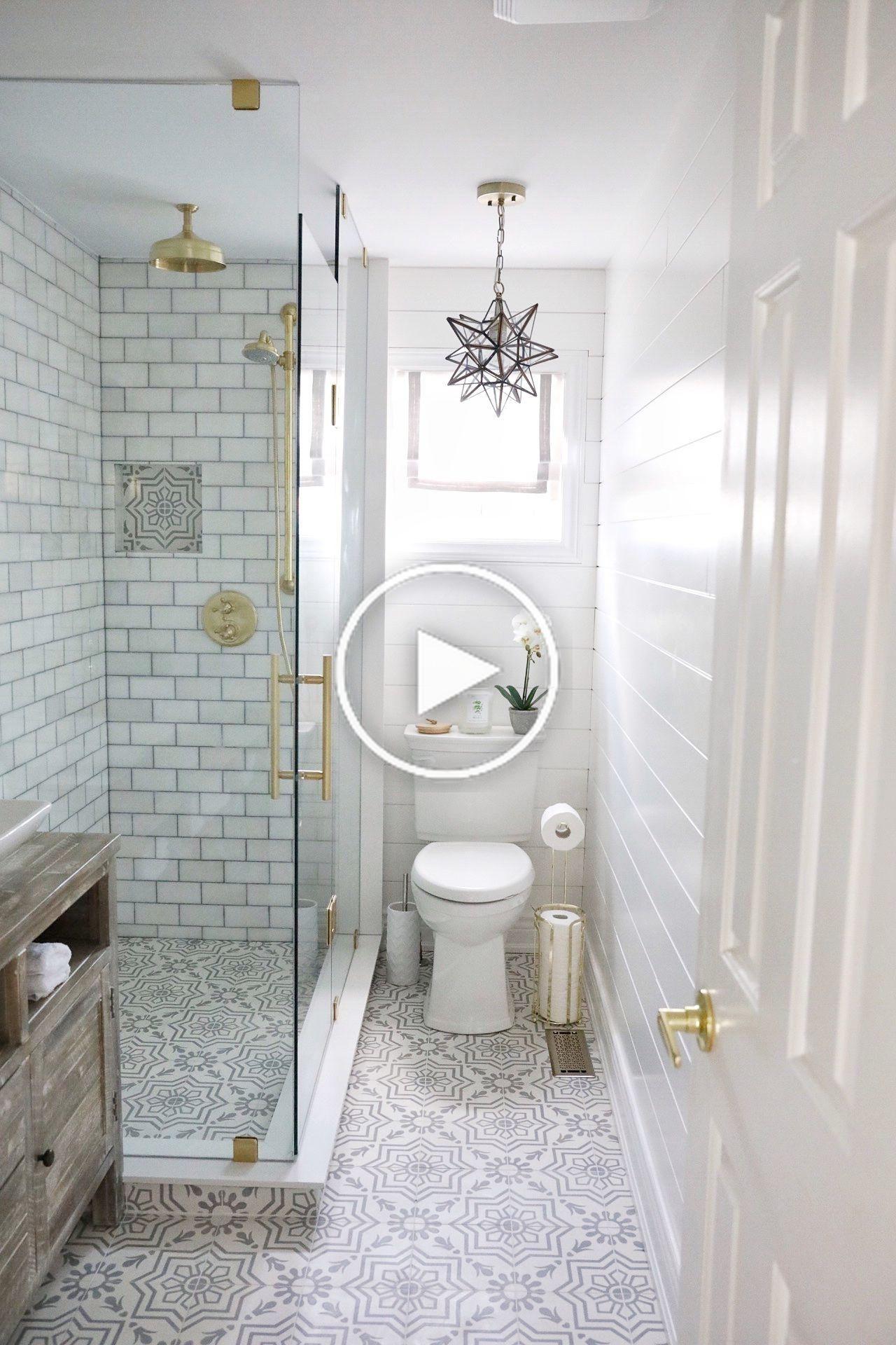 Un Relooking De Salle De Bain Tout Simplement Magnifique Small Bathroom Remodel Minimalist Small Bathrooms Small Bathroom Renovations Bathroom restoration ideas gif