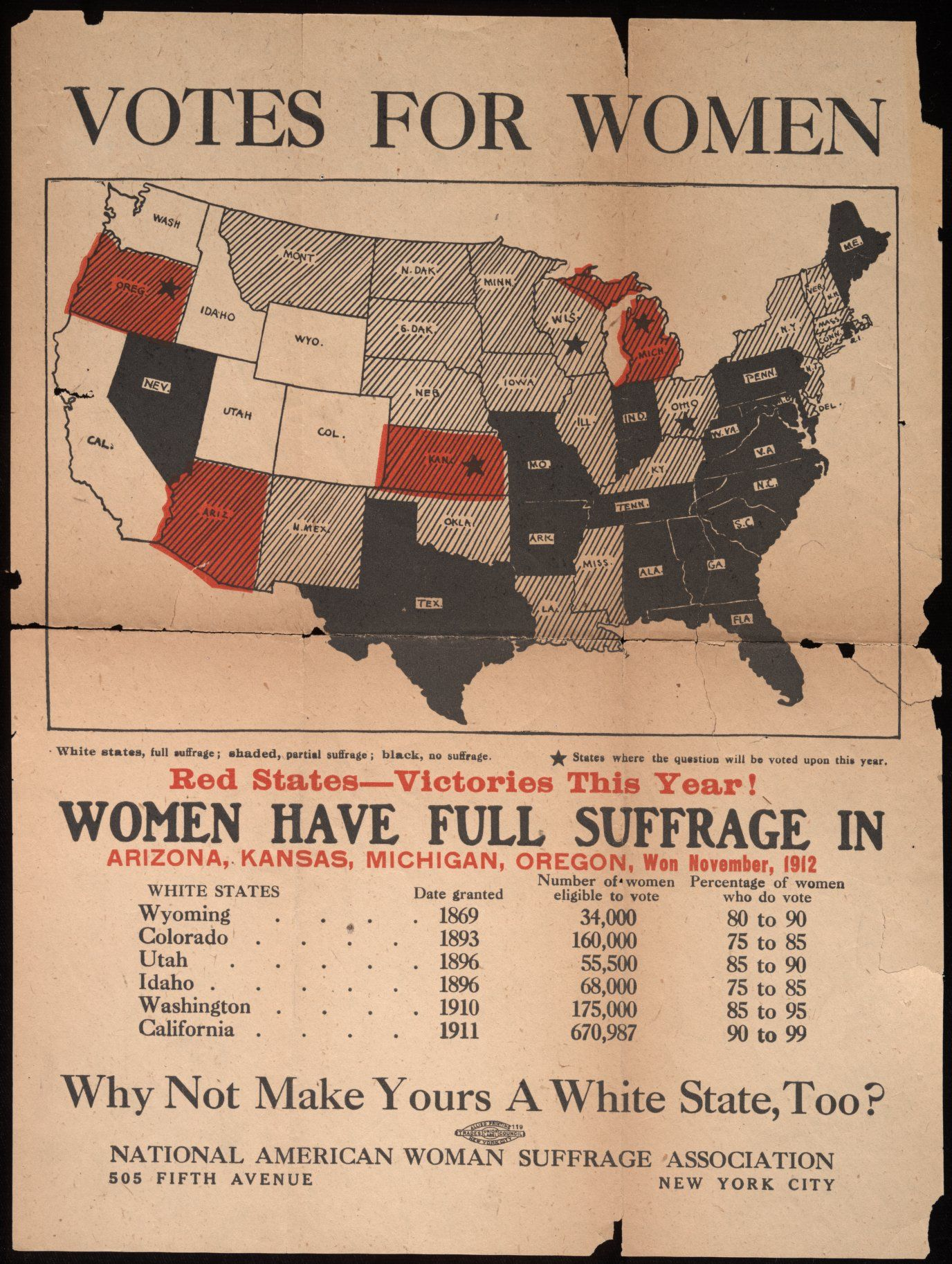 ca 1914 Girl Fighting Boy For Vote Print Women/'s Suffrage
