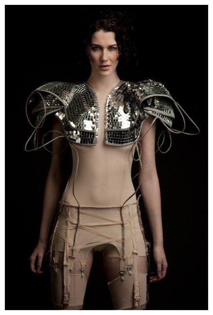 Rachel Freire, silver sequined armor shoulderpads. Dayum.