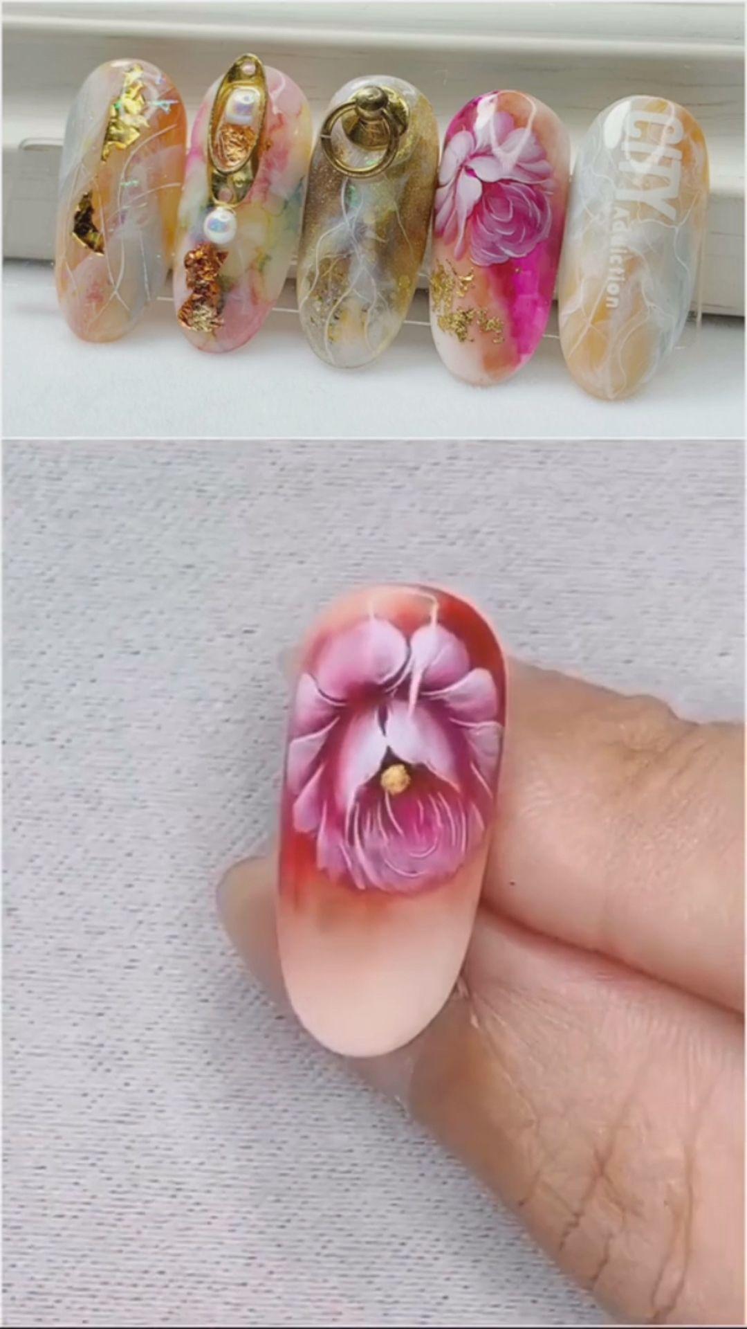 Simple nails art design video Tutorials Compilation Part 64