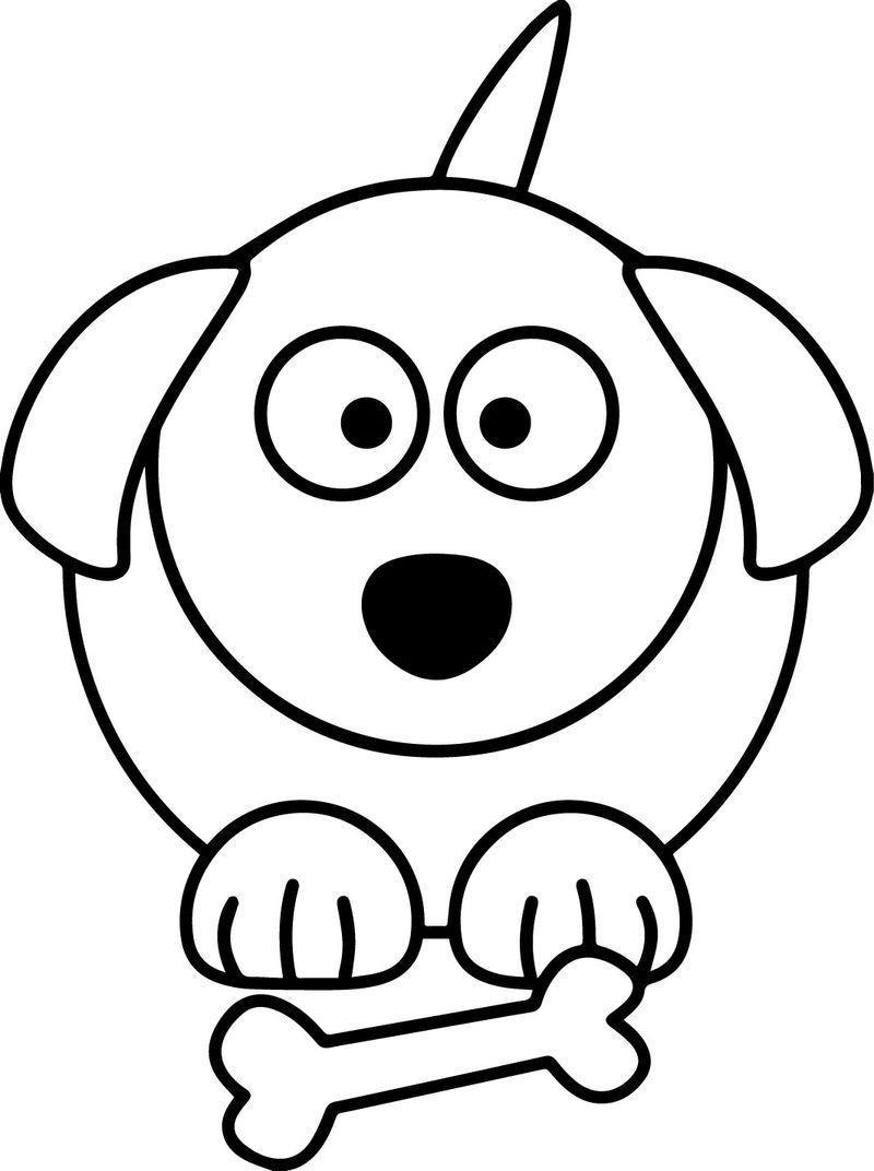 Dog Cartoon Coloring Page Di 2020