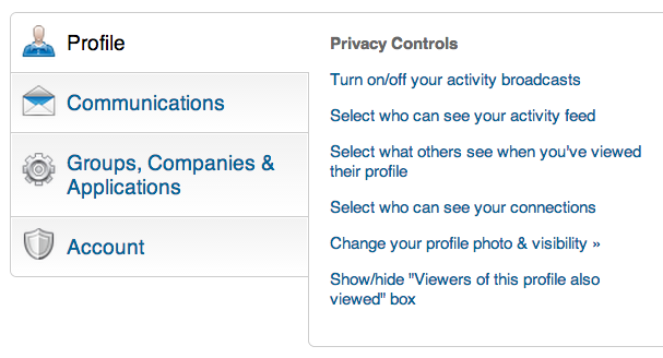 Quick Tip How To Hide Your Activity On Linkedin The Prepary Job Info Activities Linkedin