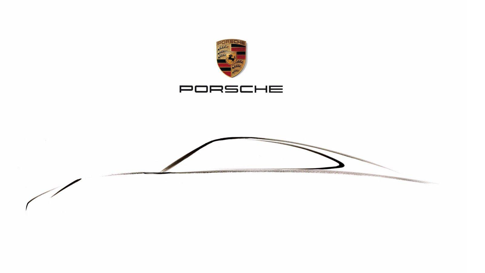 Porsche Outline Buscar Con Google Porsche Pinterest