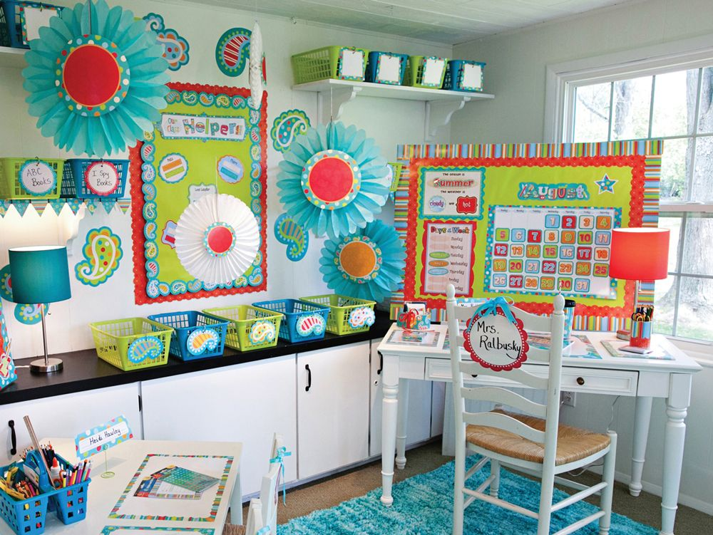 Classroom Management Decor : Dots on turquoise designer d�cor creative teaching press