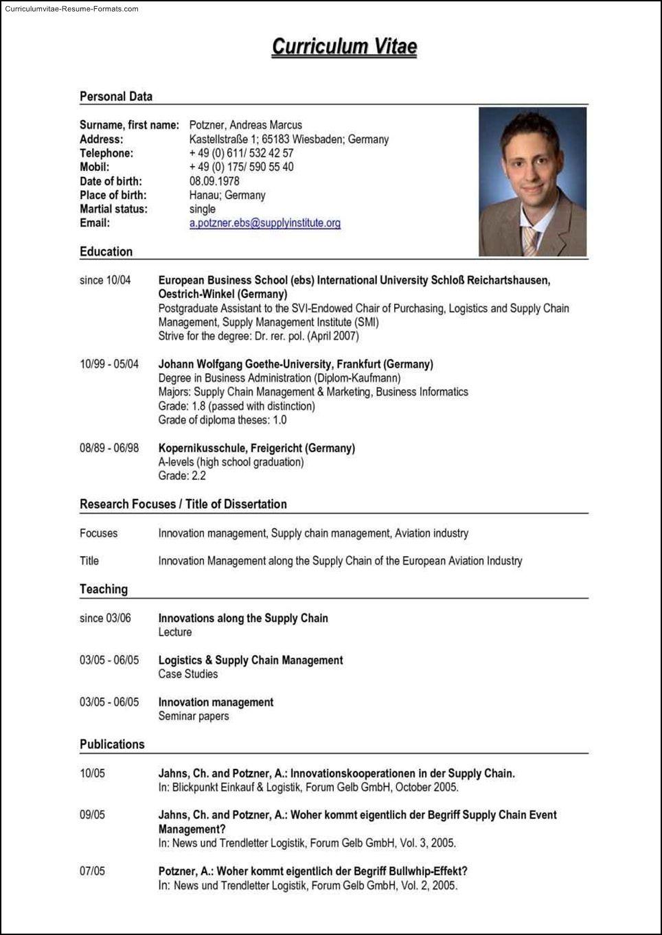 Resume Cv Template Download