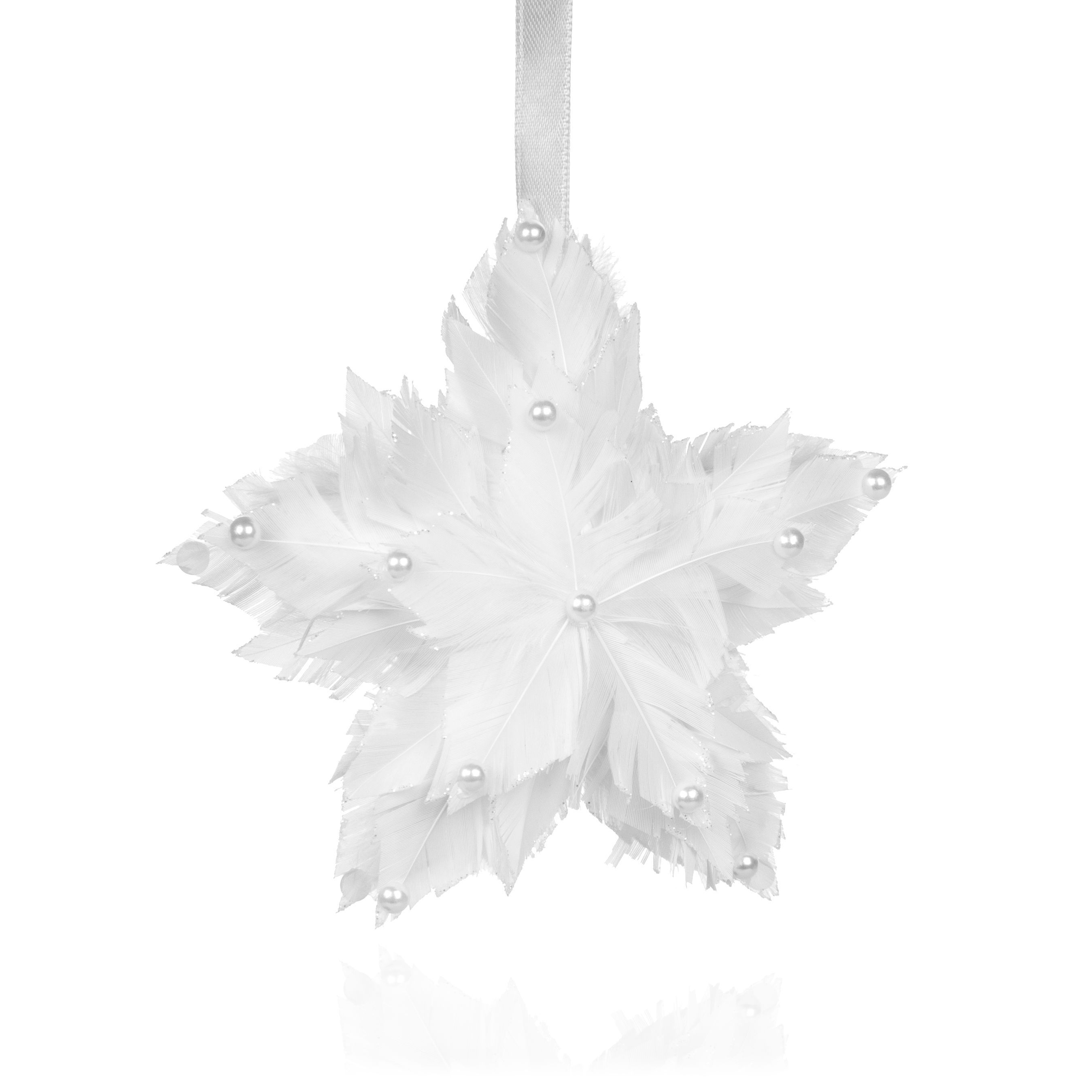 White Feathered Star Tree Decoration | B&Q | Christmas | Pinterest ...