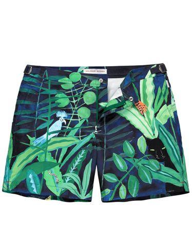 415e27e86905 30 Best Swim Shorts for men - Esquire.com | Lurking leopard Konstatin print  mid-length swim short ($315) by Orlebar Brown, orlebarbrown.com - Esquire .com