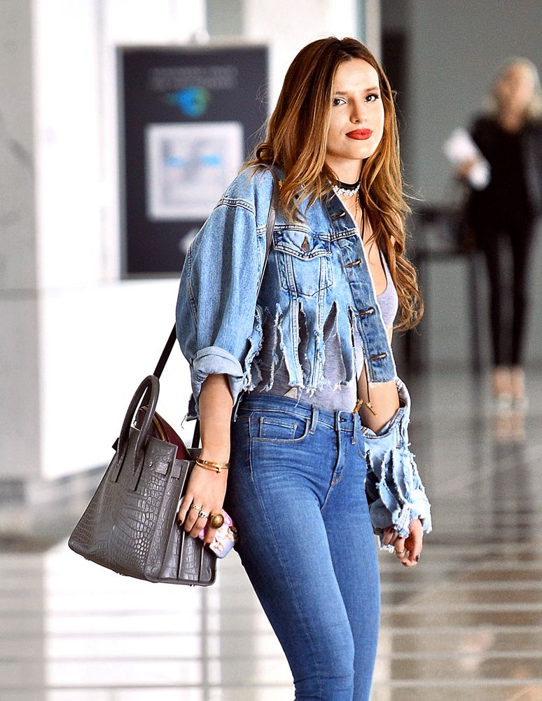 db335e40a98 Bella Thorne Saint Laurent Sac de Jour | celebrity bags in 2019 ...