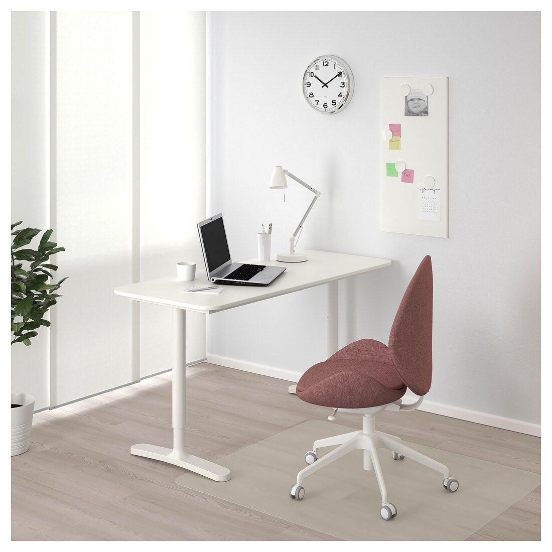Bekant Desk White 140x60 Cm Ikea Ireland Ikea Bekant Desk Ikea Bekant White Desks