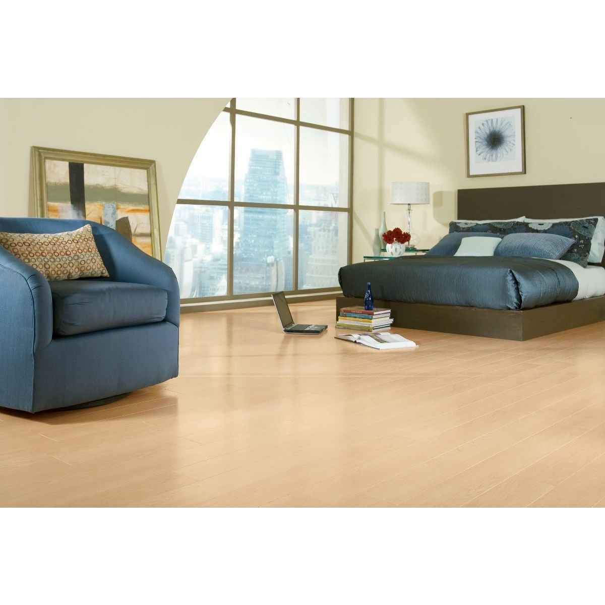 Armstrong Grand Illusions Laminate Flooring Case Of 13 05 Square Feet Canadian Maple Beige