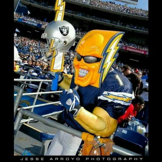 Bolt Man Chargers Football Football Fever San Diego Chargers