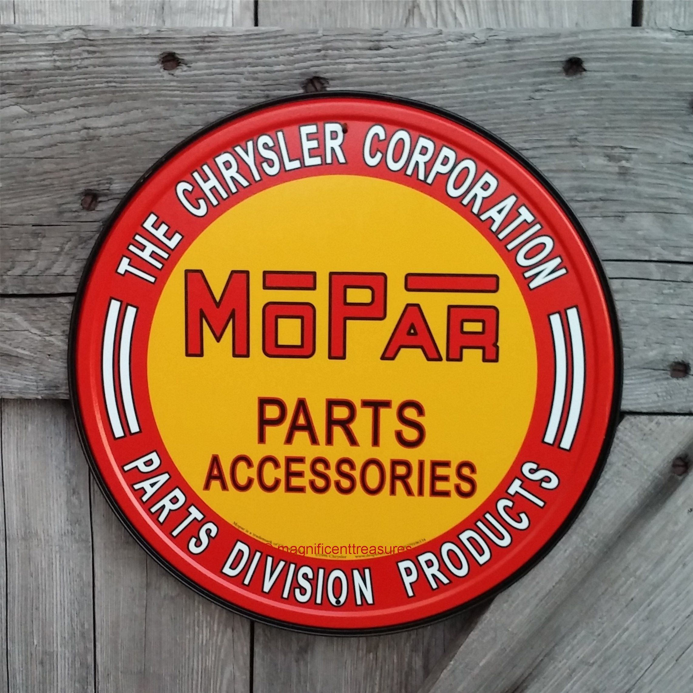"Mopar Parts 12"" sign"