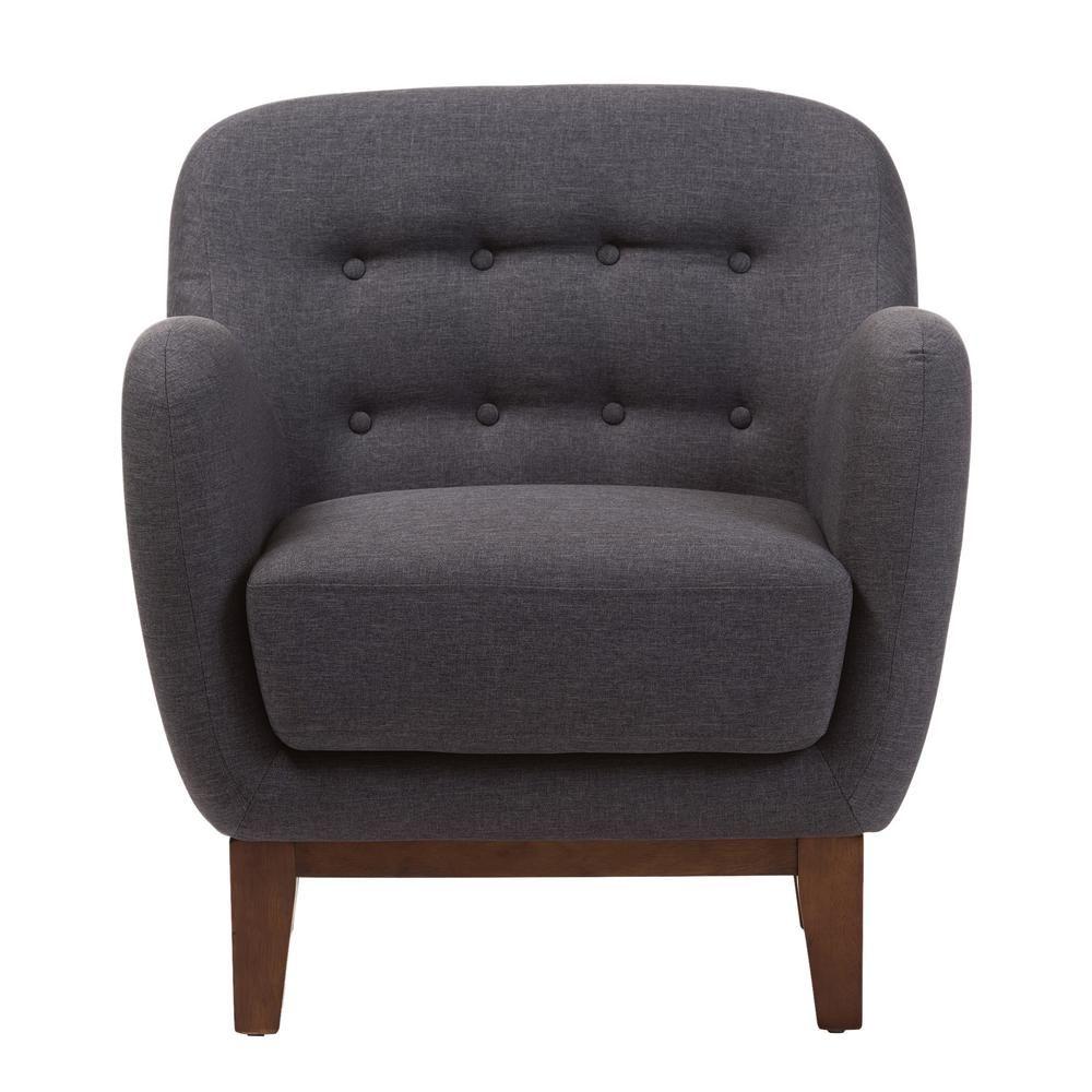 Best Baxton Studio Sophia Mid Century Dark Gray Fabric 400 x 300