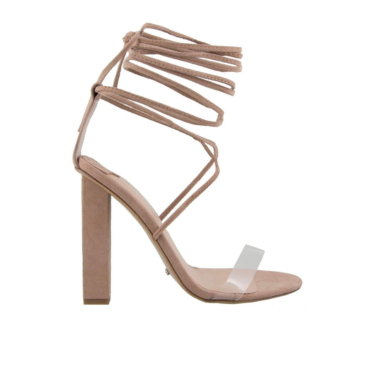 KENDALL Blush Suede Tony BIanco Lace-up Heels