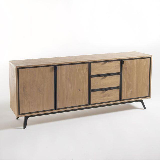Buffet enfilade métal et bois Daffo Salons and Buffet - moderniser un meuble en bois
