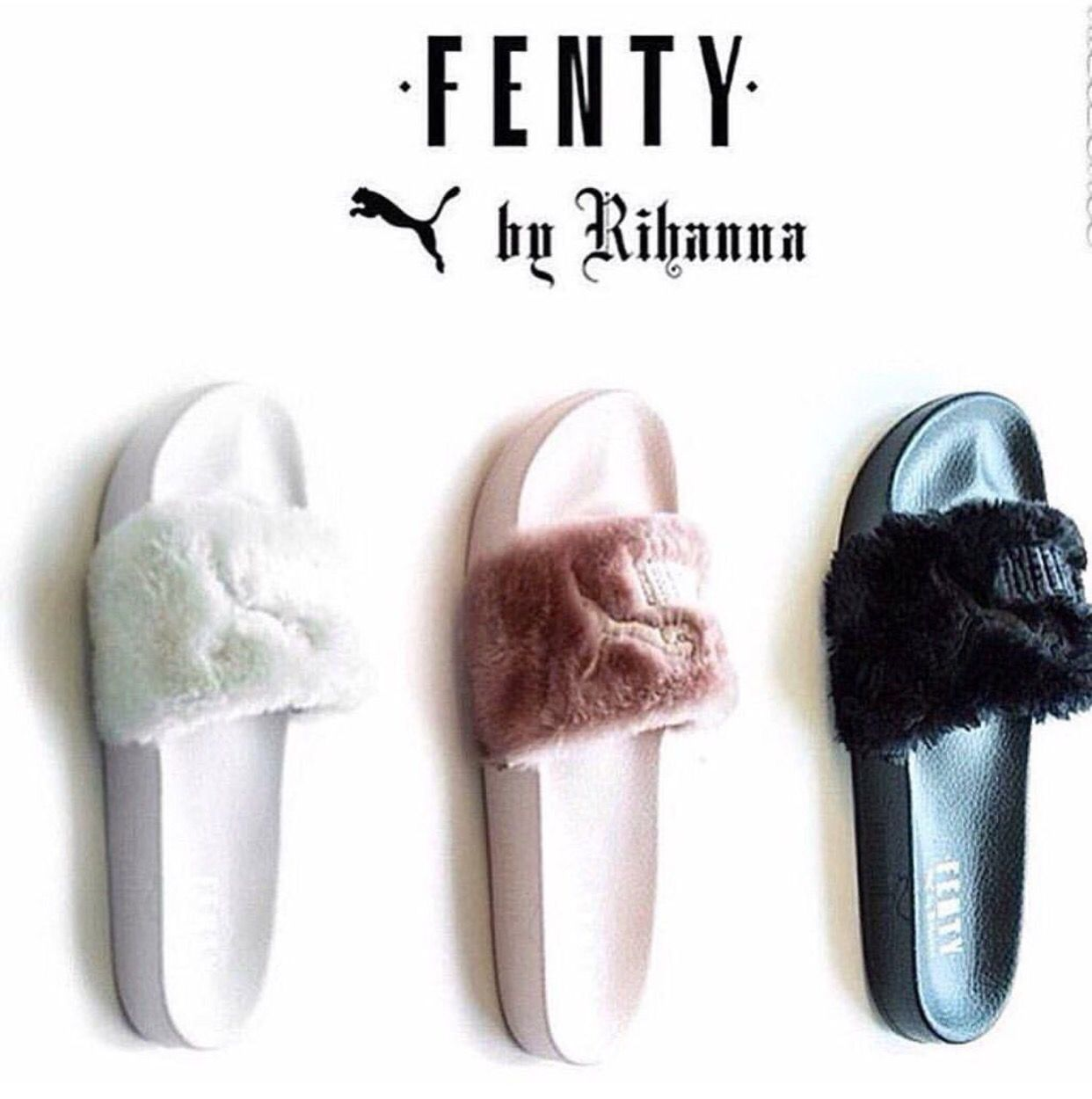 8e4475c8362e RIHANNA IS CHARGING  80 FOR PUMA FENTY FUR SLIPPERS