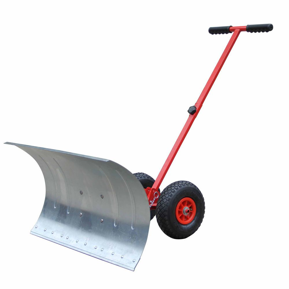 Details About Hand Push Snow Removal Manual Pusher Plow