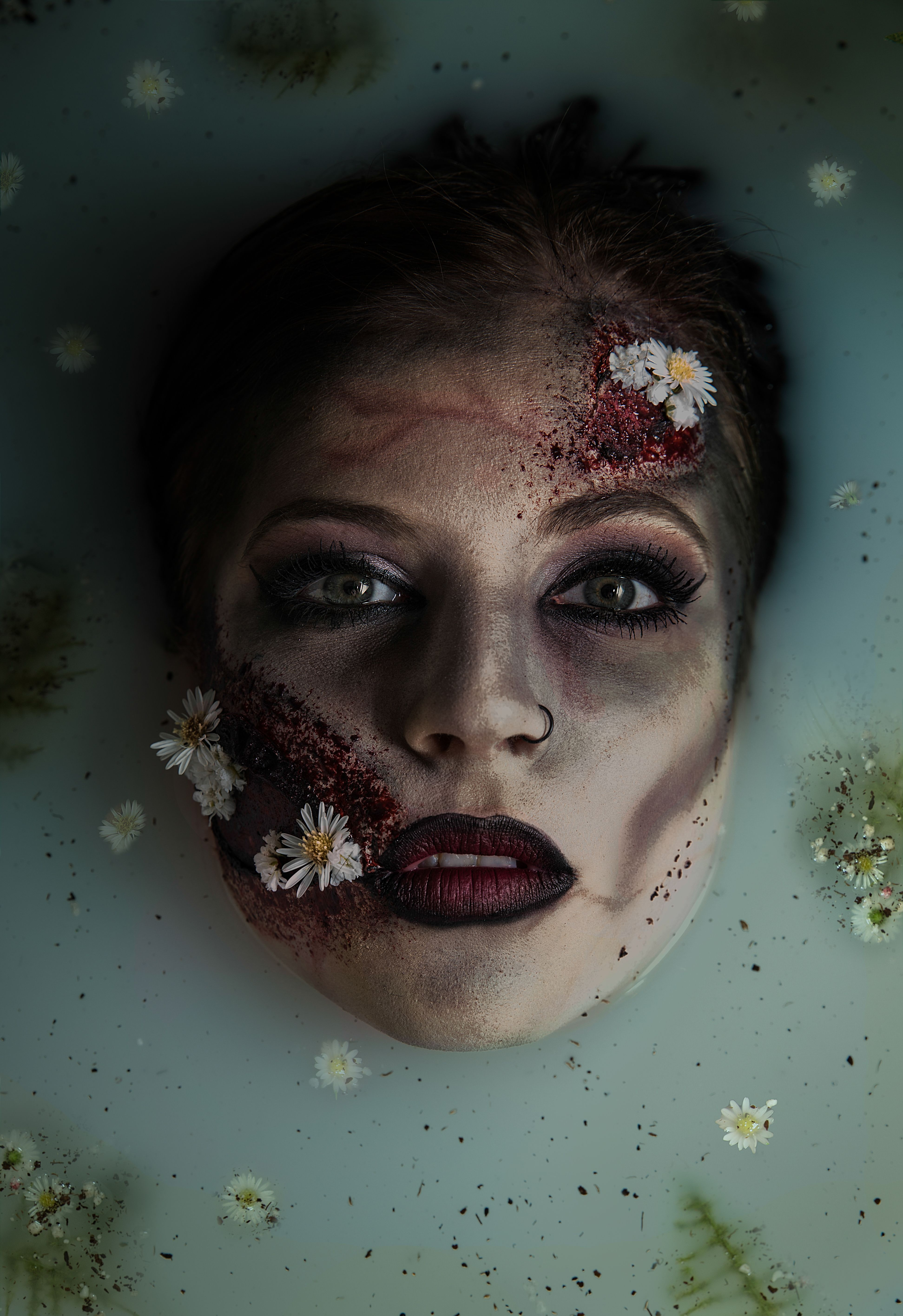 Zombie Milk Bath Milk Bath Photography Creepy Halloween Makeup Milk Bath