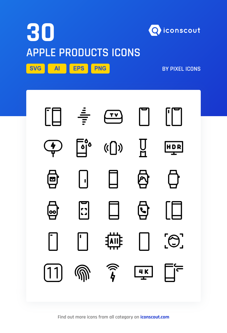 Download Download Apple Products Icon pack - Available in SVG, PNG ...