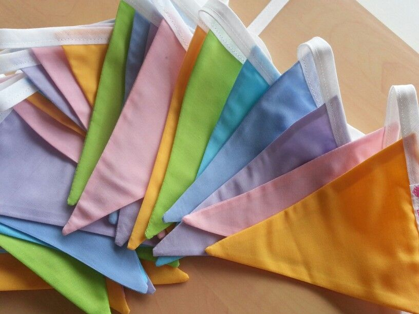 Pastel rainbow bunting. www.bellaandthemoo.com