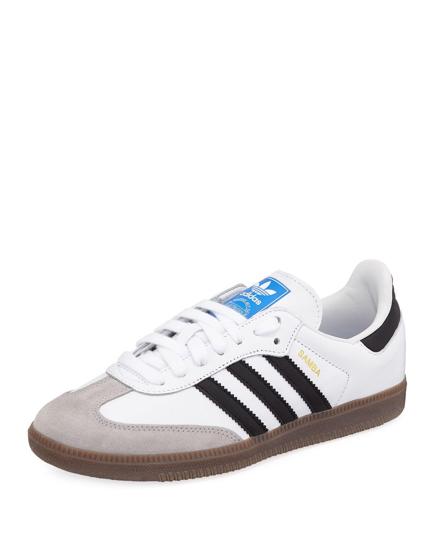 zapatillas adidas samba cuero negro