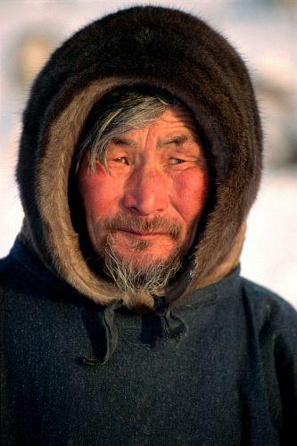 Portrait of an elderly Nenets Reindeer herder from the Yamal Peninsula. Western Siberia, Russia. © Bryan & Cherry Alexander Photography