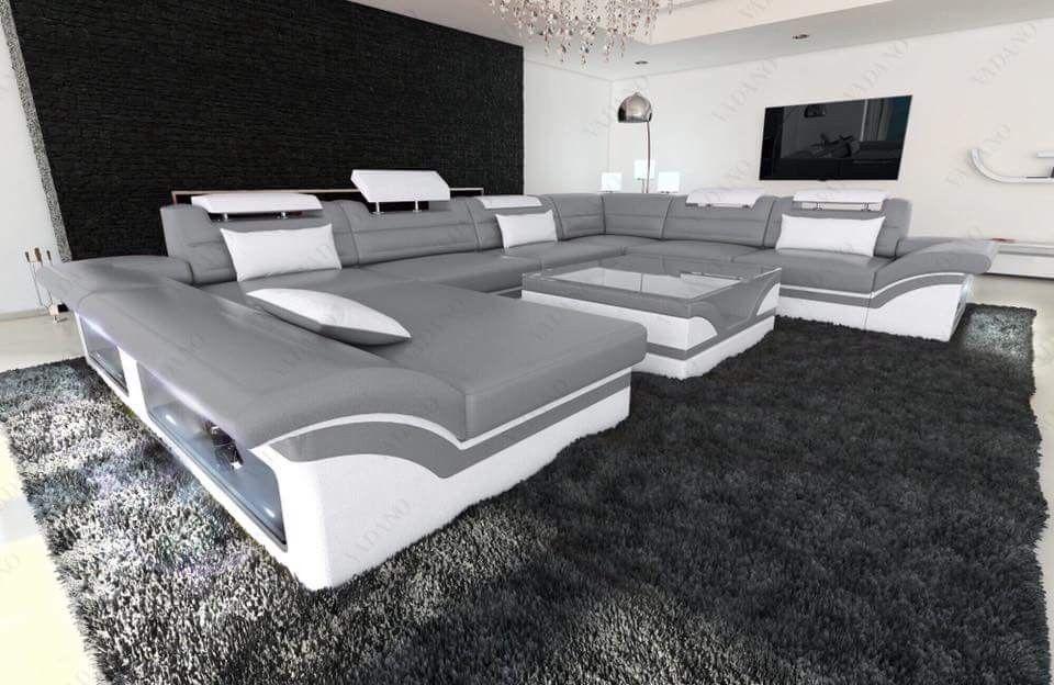 Design Sectional Sofa Jacksonville U Shape Led Living Room Sofa Set Quality Living Room Furniture Sectional Sofa
