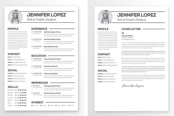 Clean Resume Template by Creative Designer on @creativemarket