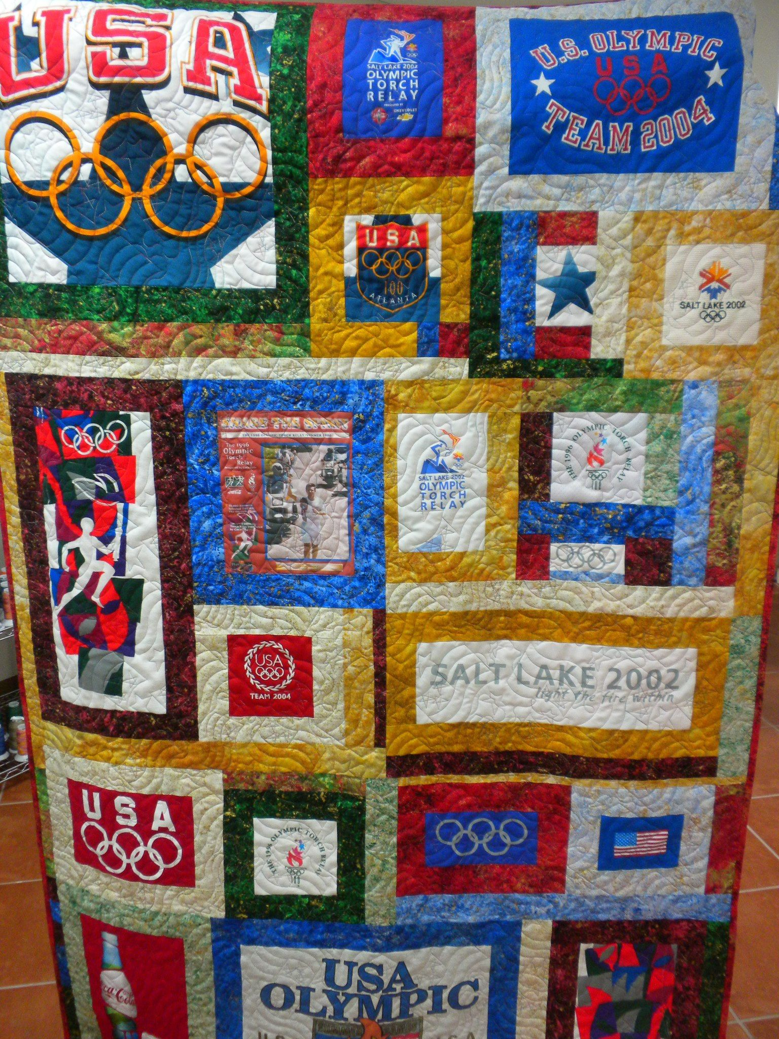 Olympic T Shirt quilt by Kokopelli Quilt Co. New Mexico | Olympics ... : t shirt quilt company - Adamdwight.com