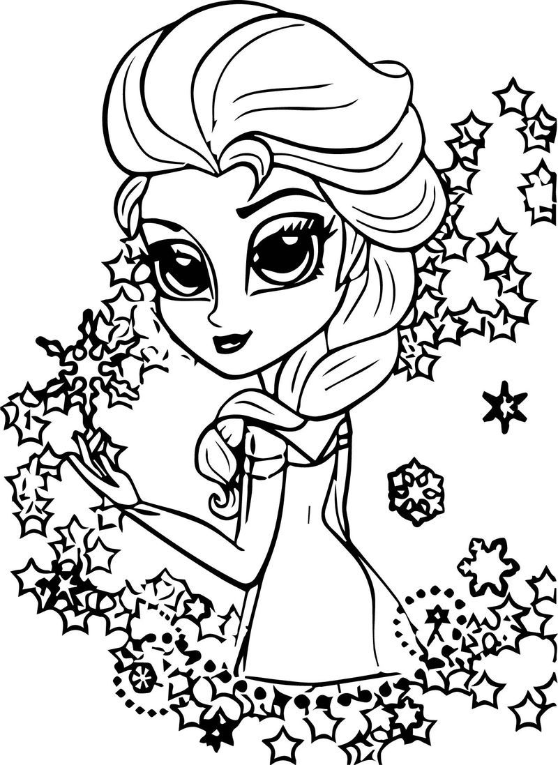 Elsa Frozen Chibi Coloring Page Chibi Coloring Pages Horse Coloring Pages Spiderman Coloring