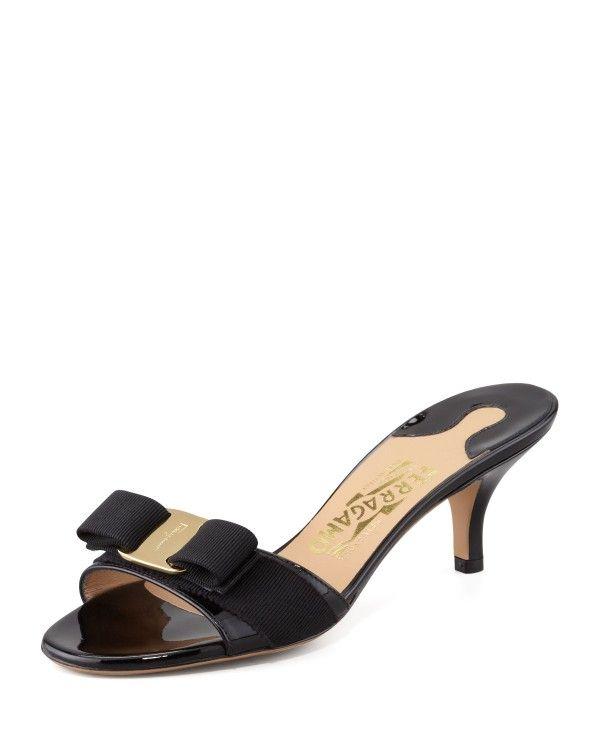 86c85d80d6 Salvatore Ferragamo - Glory Patent Bow Slide Sandal | Salvatore ...