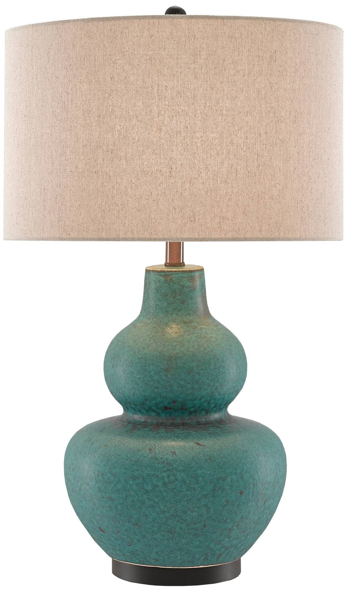 Currey and Company Agean Matte Turquoise Ceramic Table Lamp - Style ...