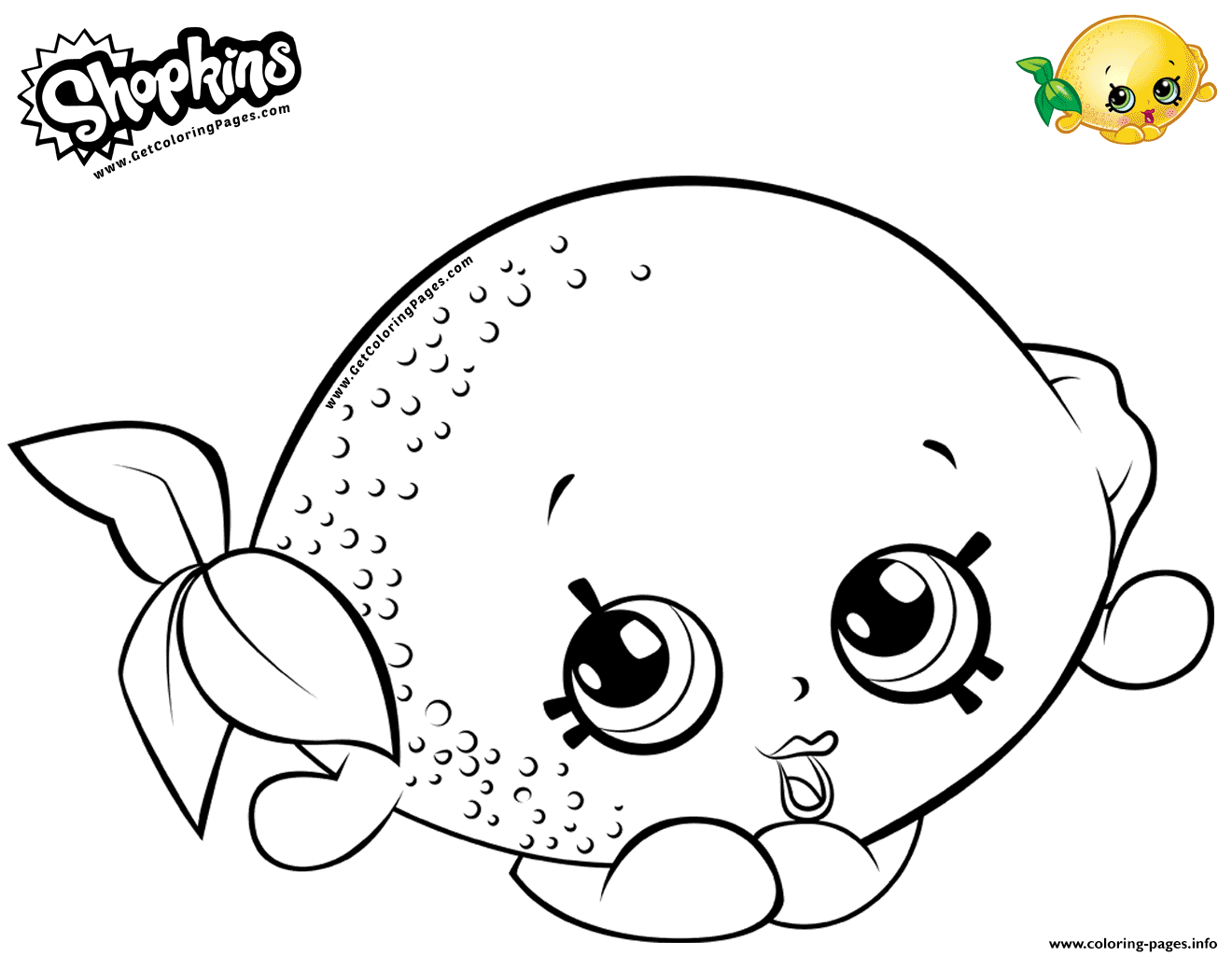 Print Cartoon Lemon Toy Coloring Pages Shopkins Colouring Pages Free Kids Coloring Pages Cute Coloring Pages
