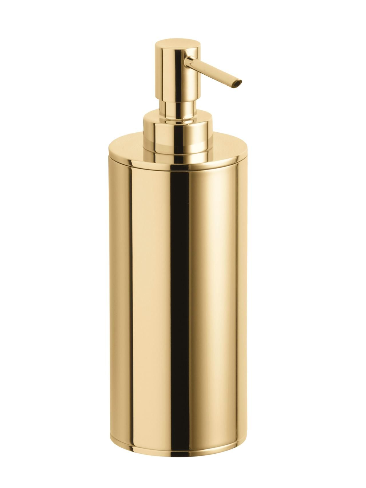 So Glam In A Bathroom Plus It S Tarnish Resistant Kohler Purist 6 1 2 Ounce Metal Soap Dispenser Vibrant French Gold 84 Build