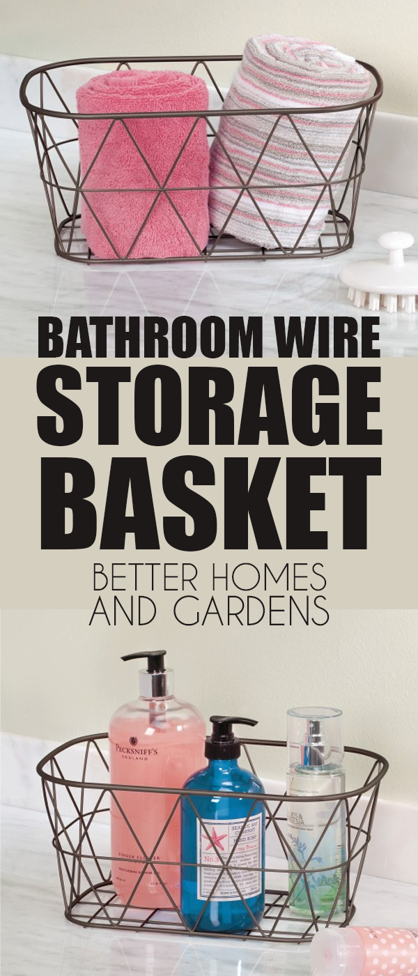 The Better Homes And Gardens Bathroom Wire Storage Basket Is Ideal For Organizing Essentials A Wire Basket Storage Bedroom Organization Storage Storage Baskets