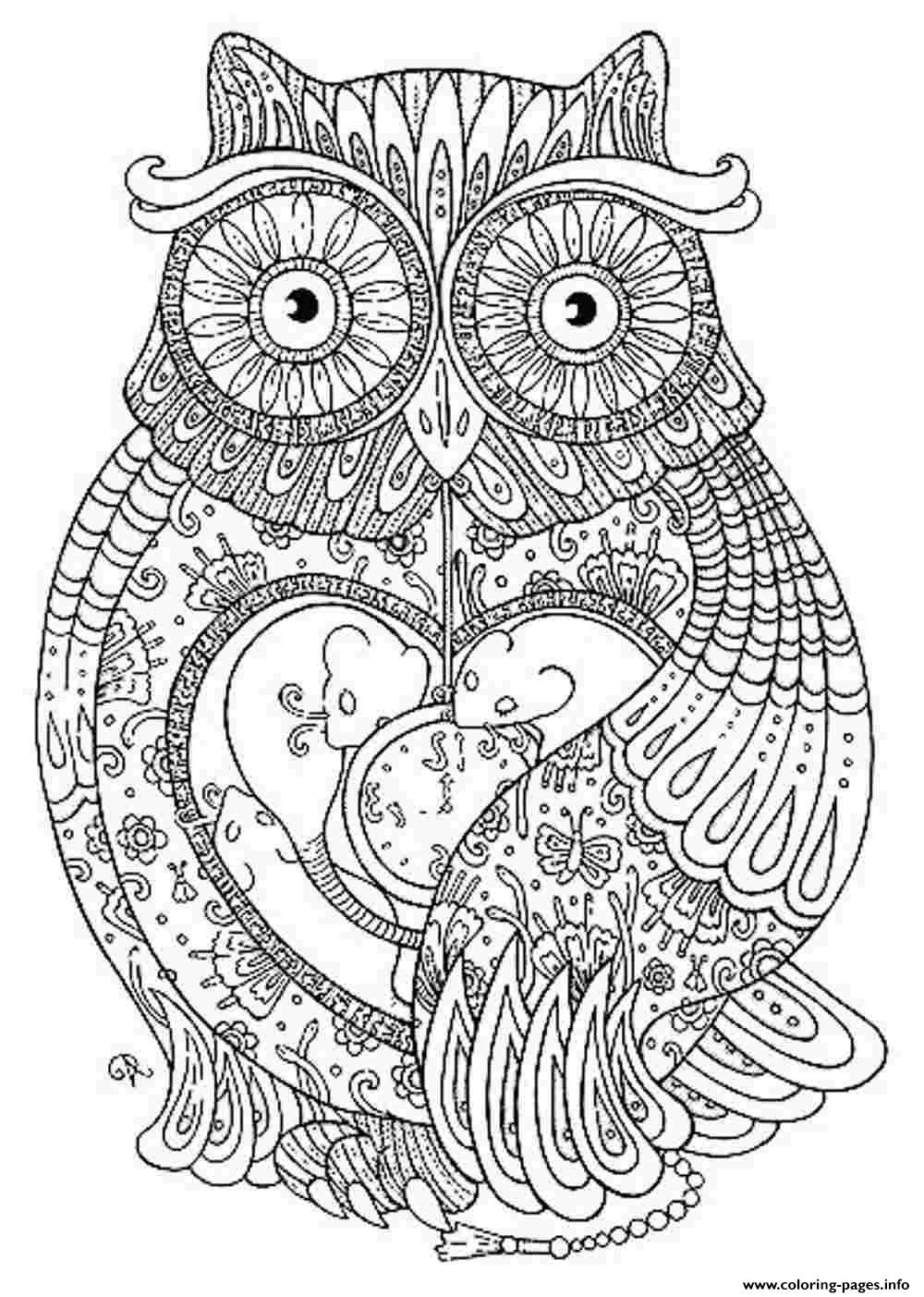 Pages to color for adults - Animal For Adults Coloring Pages For Kids And For Adults