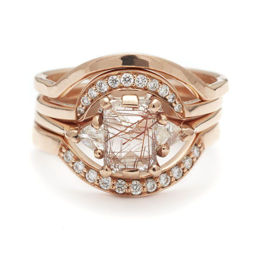 Engagement, Ring, Wedding Bands, 14k Yellow Gold, Ceremonial, White  Diamonds,