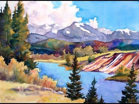 How To Paint Landscapes Watercolor Workshop With Sharon Lynn Williams Preview Youtube Landscape Painting Techniques Landscape Paintings Watercolor Art