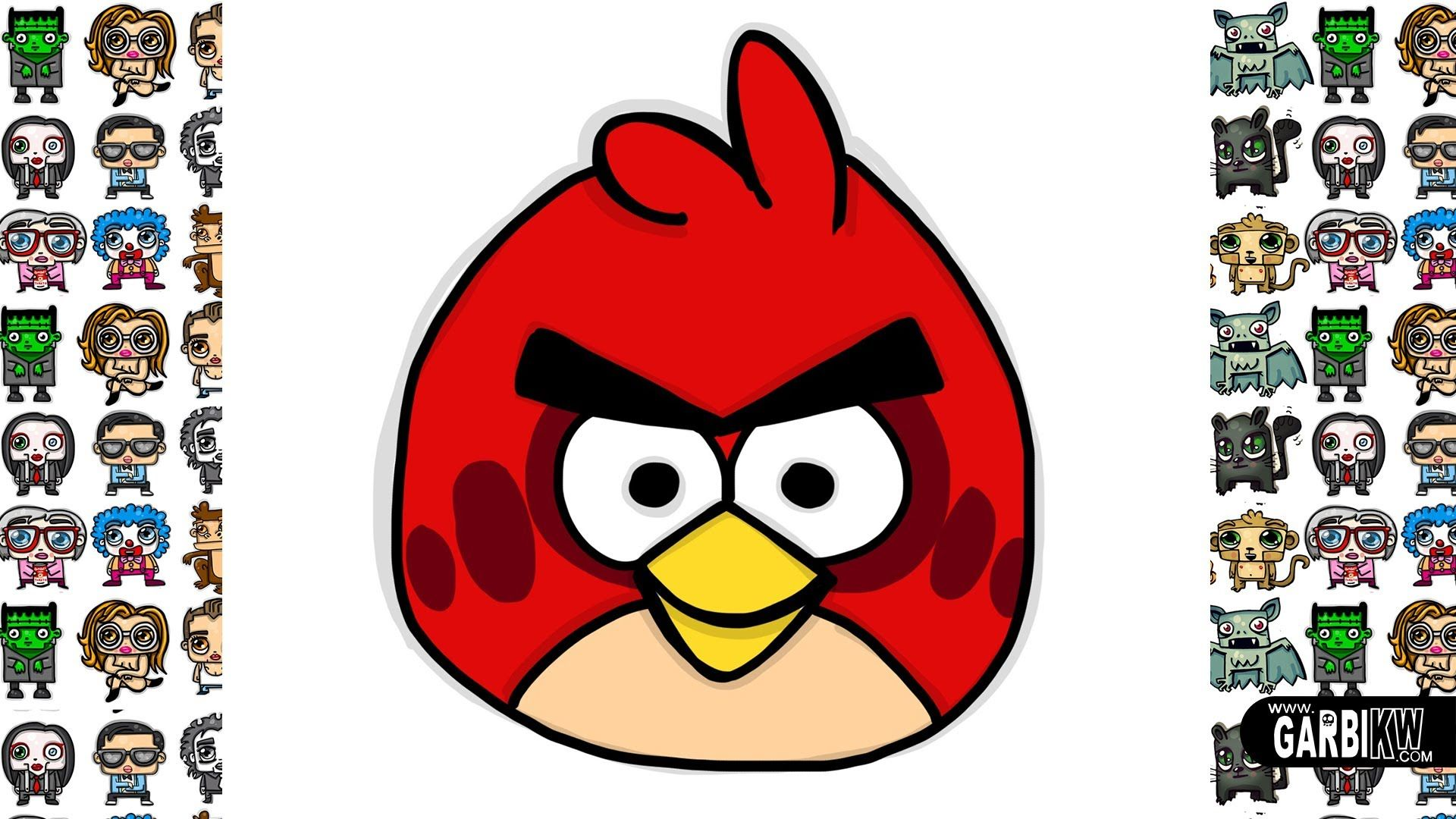 How To Draw Angry Birds Red by Garbi KW
