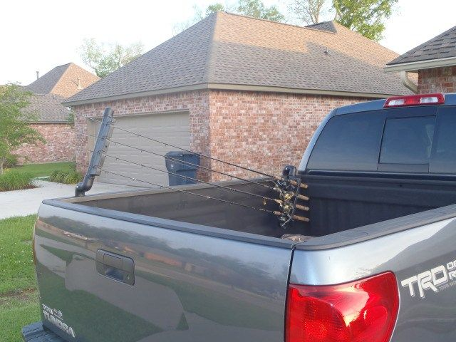 Truck bed rod holder   Fishing rod storage, Truck fishing