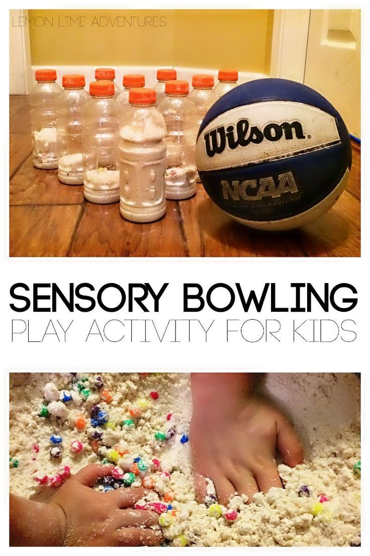 Awesome Sensory Bowling Activity for Kids (With images ...