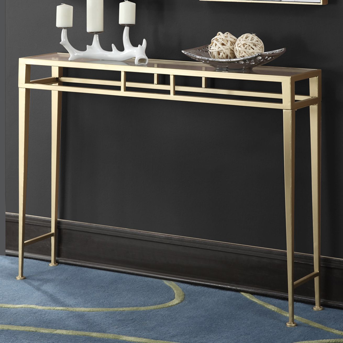Gold Glass Sofa Table Cheap 2 Seater Coast Console Entry Way Foyer Pinterest