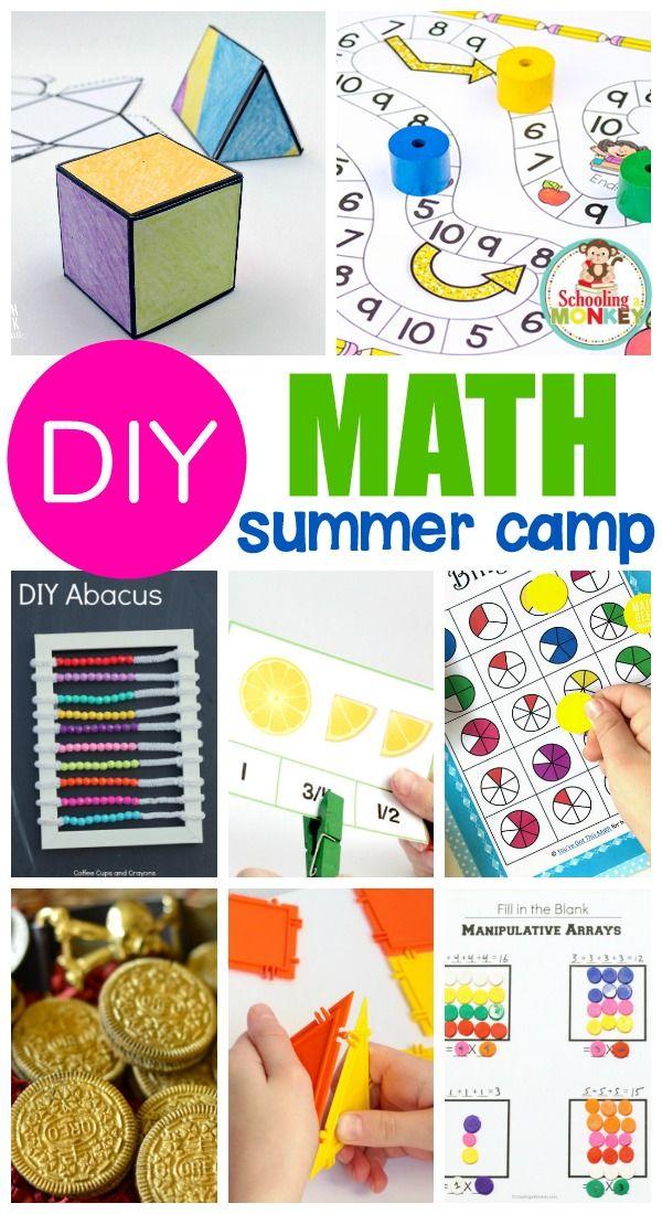 MATH CAMP IDEAS FOR THE BEST MATH SUMMER CAMP EVER   Math ...