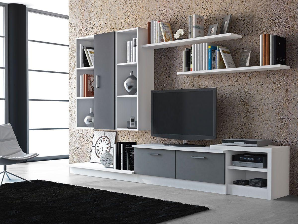 Mueble modular mueble modular apilable mueble apilable for Muebles para salones pequenos