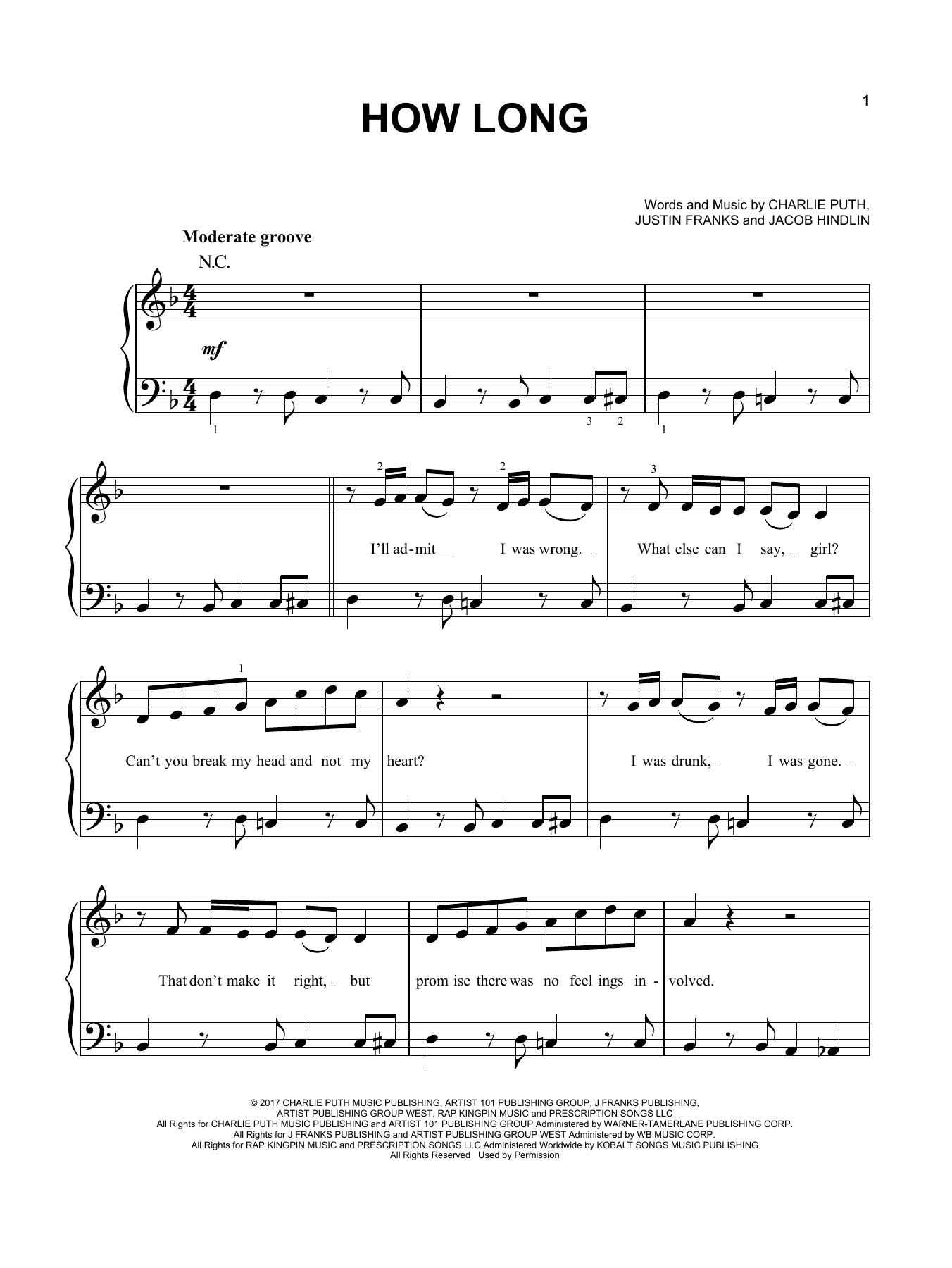 Charlie Puth Sheet Music Charlie Puth Sheet Music Notes [ 1800 x 1352 Pixel ]
