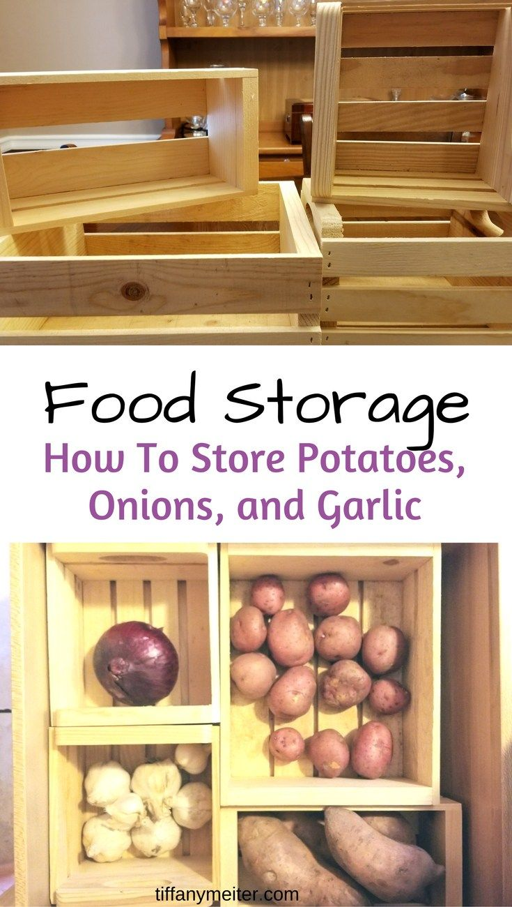 Dry Food Storage, Potatoes. Onions. Garlic