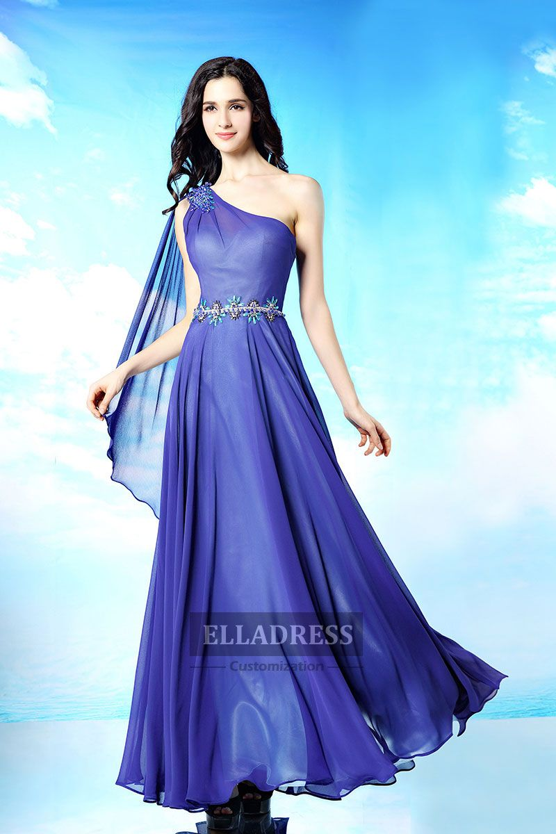 Simple One shoulder Floor length Prom Dresses-188 | Prom Dresses ...