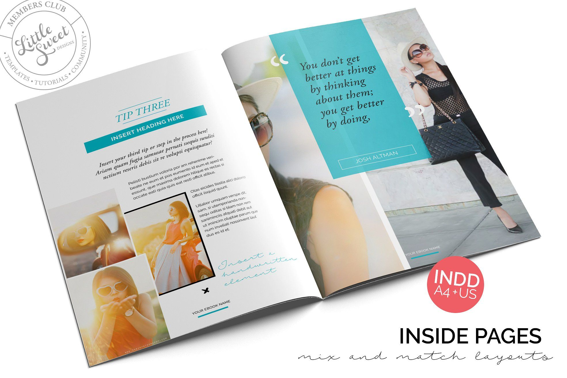 10page eBook Template InDesign + Pho | Template and Text color