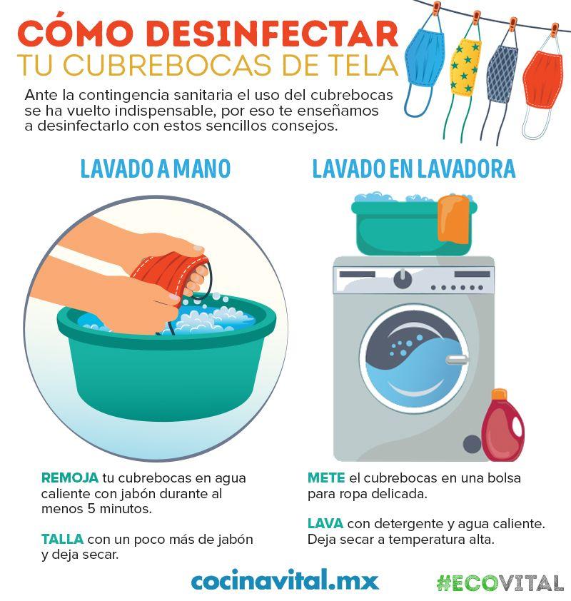Cómo Desinfectar Tu Cubrebocas De Tela Cocina Vital Consejos De Limpieza Trucos De Limpieza Trucos Para Lavar La Ropa